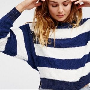 Free People Candyland Striped Sweater Size M NWT